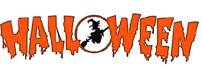 halloween logo and black witch